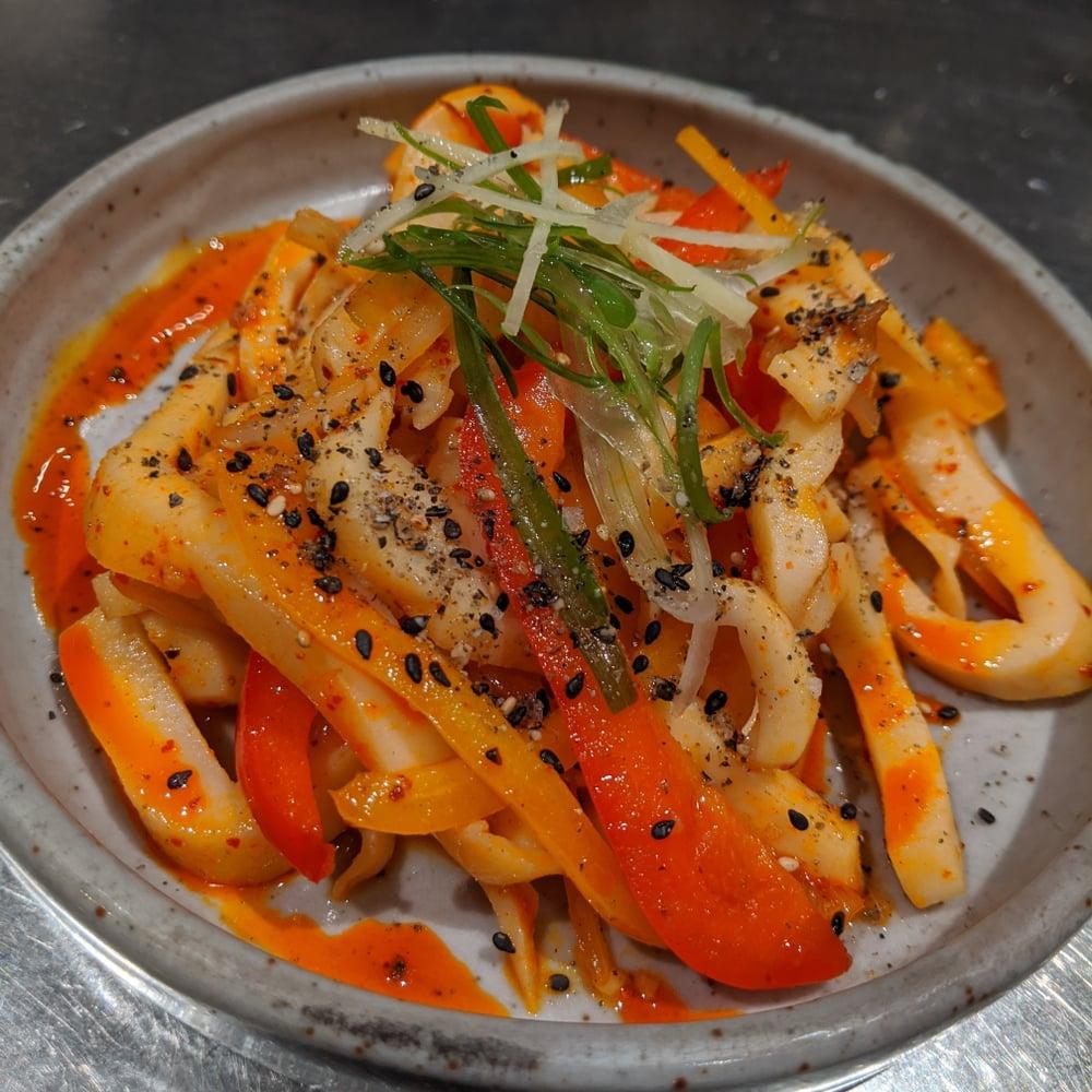 cooked humboldt squid
