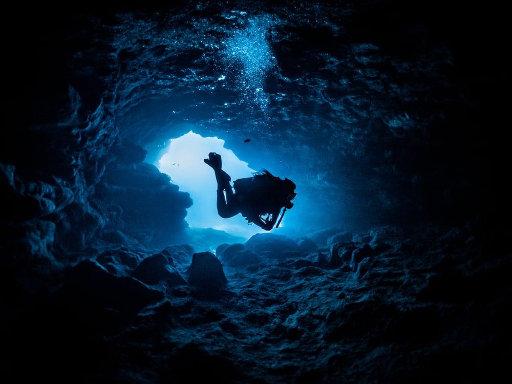 underwater exploring