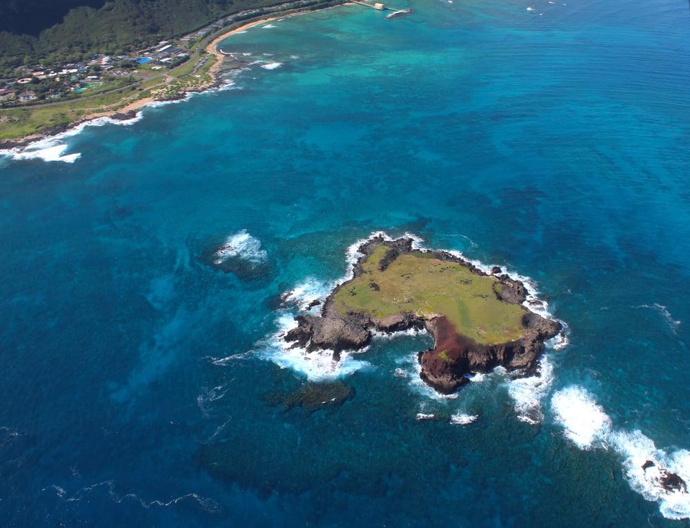 Small island off the shore of O'ahu