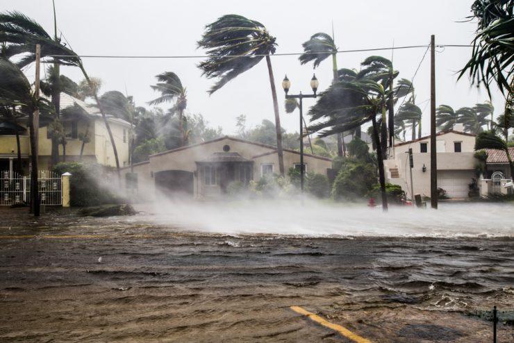high winds in hurricane