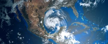 hurricane forming over the gulf of mexico