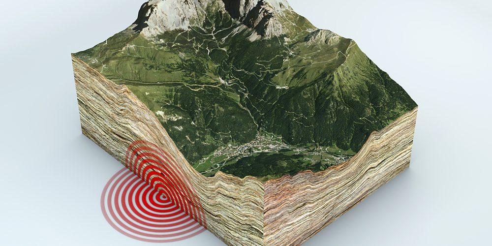 image rendering of tectonic shift
